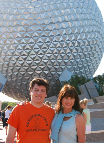 Brandon and Melanie at Epcot