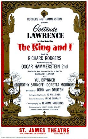 King and I original production publicity poster
