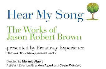 Hear My Song Event Flyer •  Presented by Broadway Experience