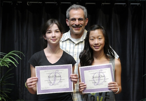 Sarah Pastor and Jessica Chao receive ASTA Certificate of Advancement
