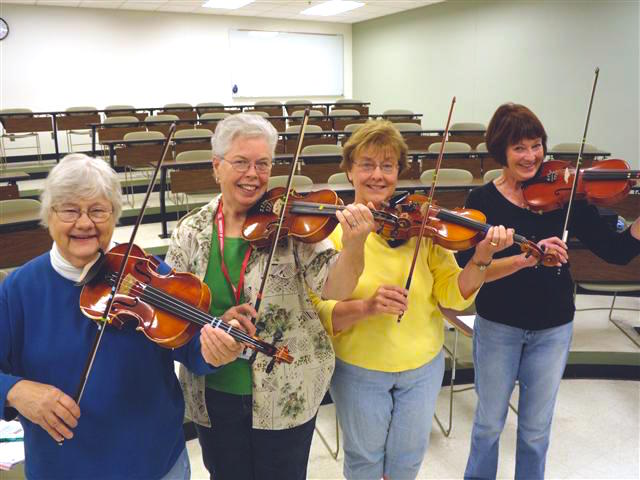 violin students of all ages